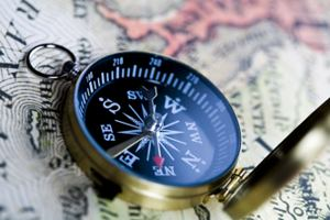 Advice symbolised on a photo of a compass